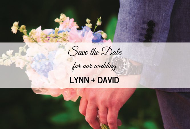 Save The Date 4 Magnet 4x6
